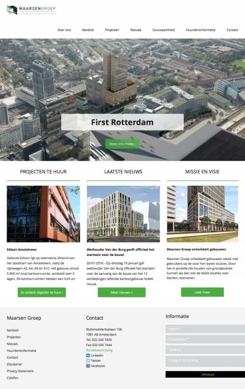 Homepage :: Maarsen Groep :: Belegging · Ontwikkeling · Realisatie · Beheer